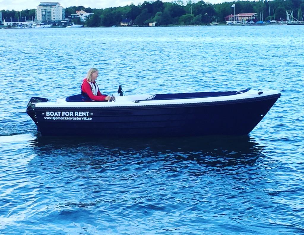 Båt, hyrbåt, rent a boat
